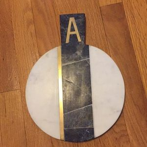 Anthropologie Marble Cheese Board